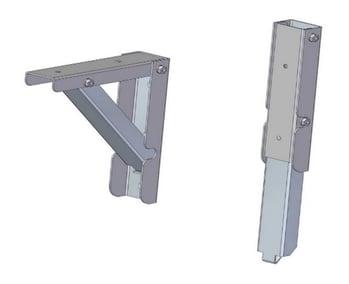Folding metal shelf bracket