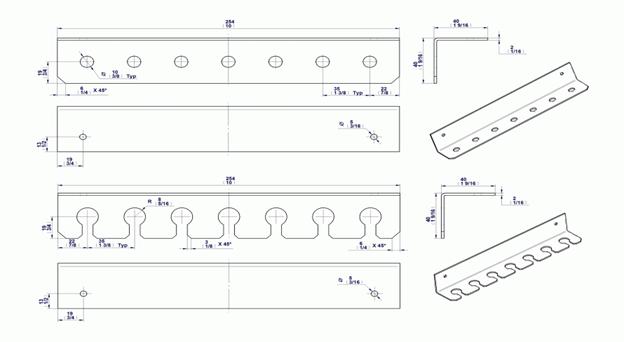Holder Rack Blueprints