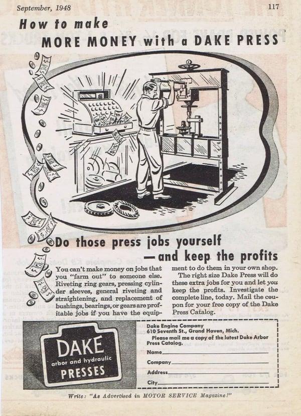 metalworking ad dake